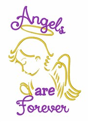 Angels are Forever embroidery design