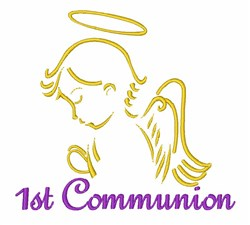 1st Communion Angel embroidery design