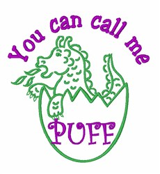 Puff The Dragon embroidery design