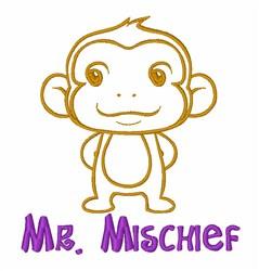 Mr Mischief Monkey embroidery design