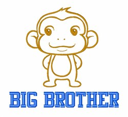 Big Brother Monkey embroidery design