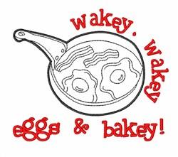 Eggs & Bacon Pan embroidery design