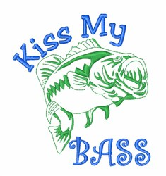 Kiss My Bass embroidery design