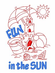 Sunshine Beach Fun embroidery design