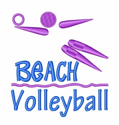 Beach Volleyball Player embroidery design