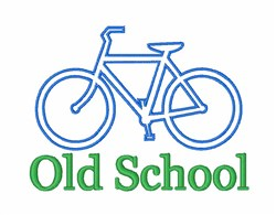 Old School Bicycle embroidery design