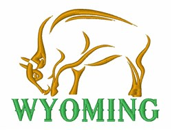 Wyoming Buffalo embroidery design
