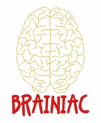 Brainiac embroidery design