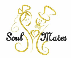 Bride Groom Soulmates embroidery design