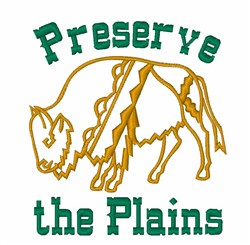 Buffalo Preserve Plains embroidery design