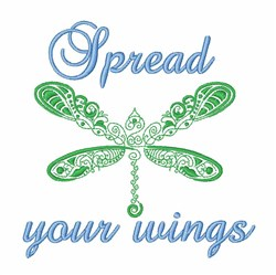 Dragonfly Wings embroidery design