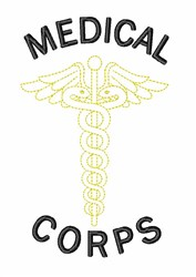 Medical Corps Symbol embroidery design