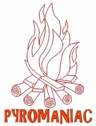 Pyromaniac Campfire embroidery design