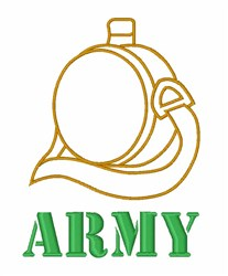 Army Flask embroidery design