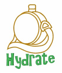 Hydrate Flask embroidery design