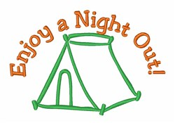 Night Out Tent embroidery design