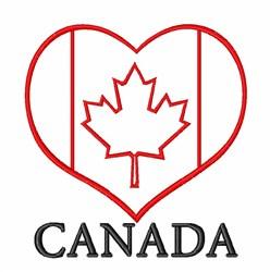 Canada Heart embroidery design