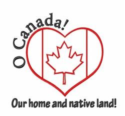 Canada Heart Home embroidery design