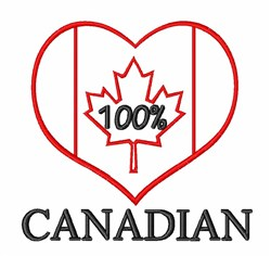 100% Canadian embroidery design