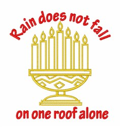 Kwanzaa Candle Holder embroidery design