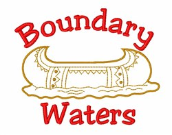 Boundary Waters Canoe embroidery design