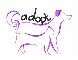 Adopt an Animal embroidery design
