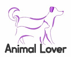 Animal Lover embroidery design