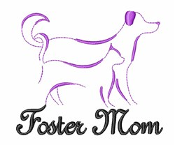 Foster Mom Animal embroidery design