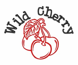Wild Cherry embroidery design