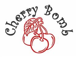Wild Cherry Bomb embroidery design