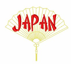 Japan Fan embroidery design
