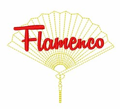 Flamenco Fan embroidery design