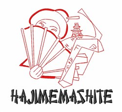 Hajimemashite Geisha embroidery design