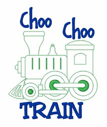 Choo Choo Train embroidery design