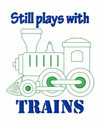 Plays With Trains embroidery design