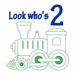 Whos 2 Train embroidery design