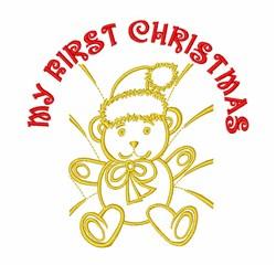 Babys Christmas Bear embroidery design