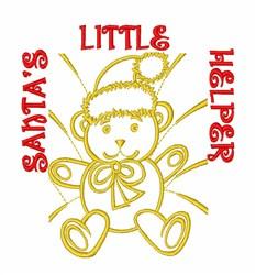 Santas Helper Bear embroidery design