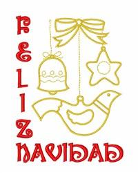 Feliz Navidad Ornaments embroidery design