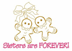 Sisters Gingerbread Cookies embroidery design