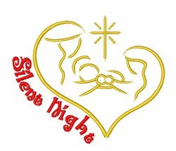 Silent Night Nativity embroidery design
