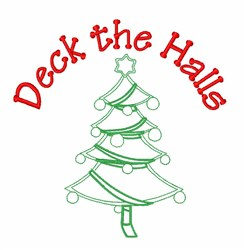 Deck the Halls Tree embroidery design