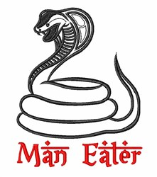 Cobra Man Eater embroidery design