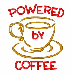 Powered By Coffee embroidery design