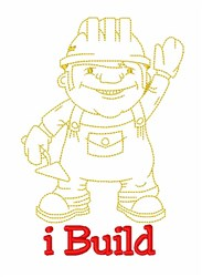 Handy Man Builds embroidery design