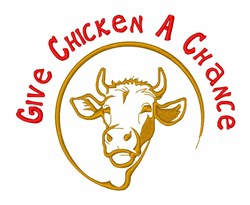 Cattle Not Chicken embroidery design