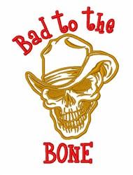 Cowboy Skull Bone embroidery design