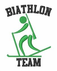 Biathlon Team Skier embroidery design