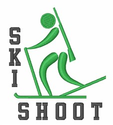 Shoot Skier embroidery design