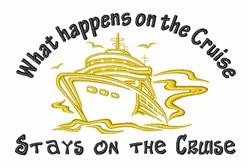 Cruise Ship embroidery design